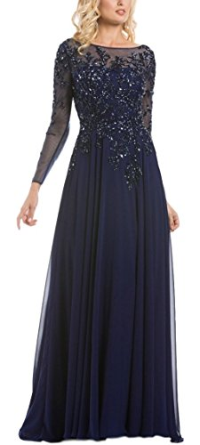 long sleeve Mother of the Bride evening gown