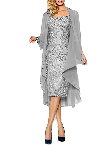 4f2e291ff8d39 H.S.D Lace Mother of the Bride Dresses Formal Gowns with Chiffon Jacket  Wraps US 14