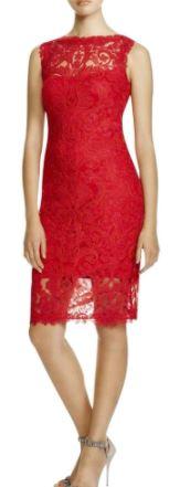 Corded Lace-Illusion Neckline-Slvls Dress