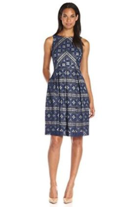 Lace Strip Fit & Flare Dress.JPG