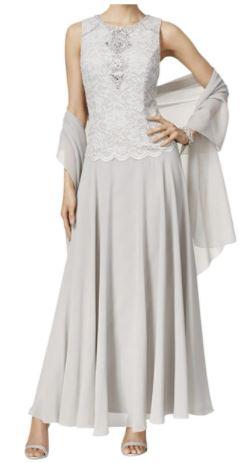 Long Sleeveless A-Line Dress (Petite and Regular)