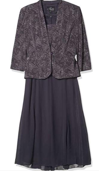T-Length Mock Jacket Dress with Three-Quarter Sleeve