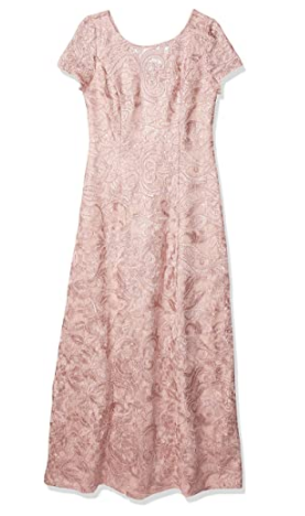 Women's Long Lace A-line Gown