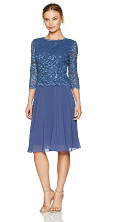 Women's Sequin Lace Mock Dress