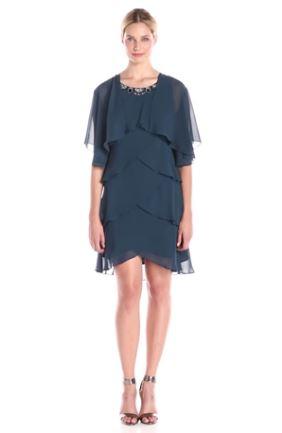 Embellished-Neck-Tiered-Dress